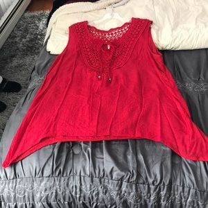 Red adult tank top